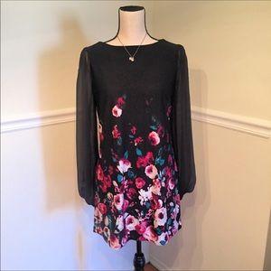 White House Black Market Floral Mod Mini Dress